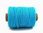 Turquoise cotton koord
