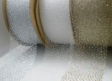 Organza lint glinstering champagne|40mm