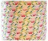 Wit band met roze bloemen,10 meter_