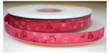 Hartjes lint roze/lichtroze