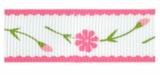 Bloemen lint roze ,16mm