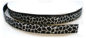 Giraf lint 9mm zwart/wit