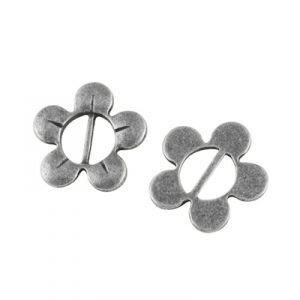 Lintschuifje bloem, zilver