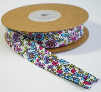 Biaisband fleurige bloemenprint