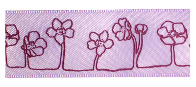 Lila bloemen lint