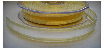 Geel organza stiksel lint