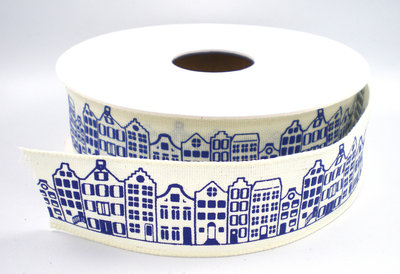 Amsterdamse grachten huisjes lint