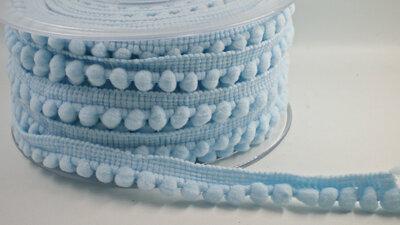 pompom band lichtblauw