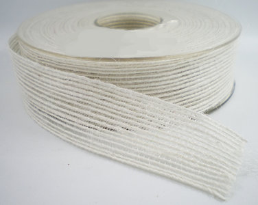 Jute band 25mm wit